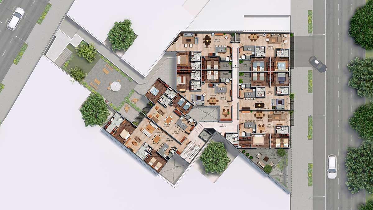 Departamentos CDMX Roof-gardenZomm-In