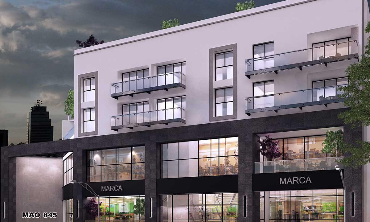 Departamentos CDMX fachada-Miguel Angel de Quevedo 845